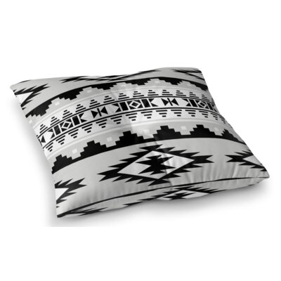 Cherokee Square Floor Pillow Size: 23 H x 23 W x 9.5 D, Color: Gray / Black