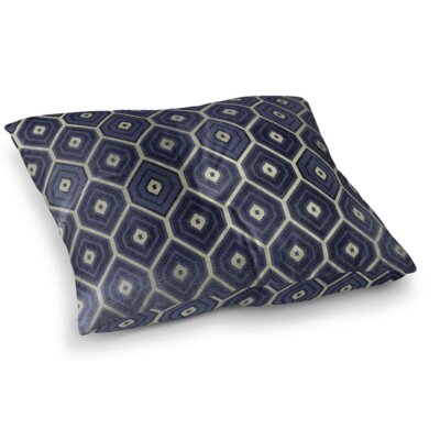 Honey Comb Square Floor Pillow Size: 23 H x 23 W x 9.5 D, Color: Navy
