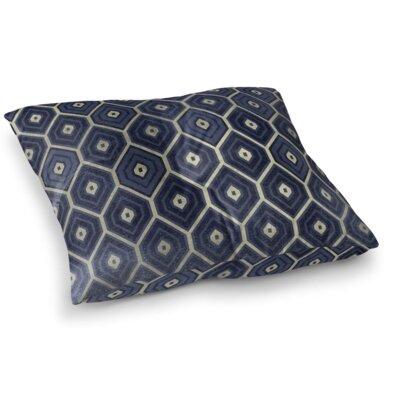 Honey Comb Square Floor Pillow Size: 26 H x 26 W x 12.5 D, Color: Navy
