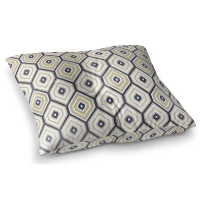Honey Comb Square Floor Pillow Size: 23 H x 23 W x 9.5 D, Color: Lime