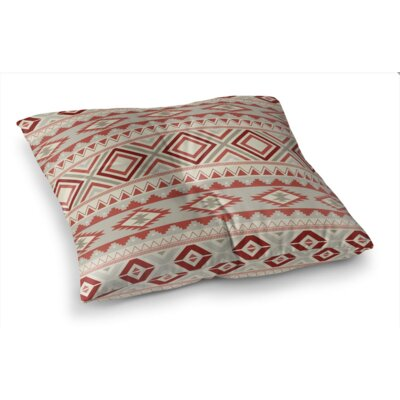 Cabarley Square Floor Pillow Size: 26 H x 26 W x 12.5 D, Color: Tan