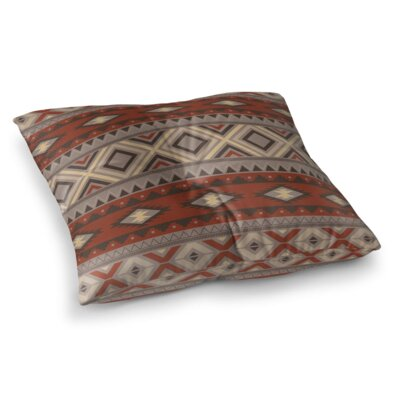 Cabarley Square Floor Pillow Size: 23 H x 23 W x 9.5 D, Color: Brown