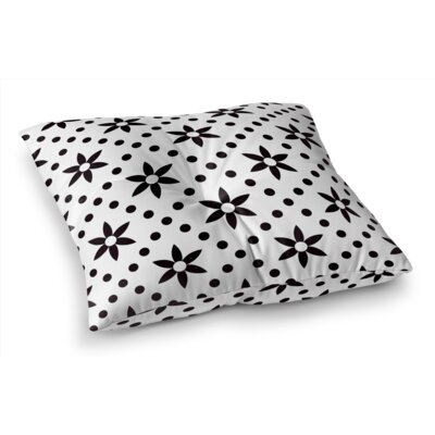 Flowers with Dots Floor Pillow Size: 23 H x 23 W x 9.5 D