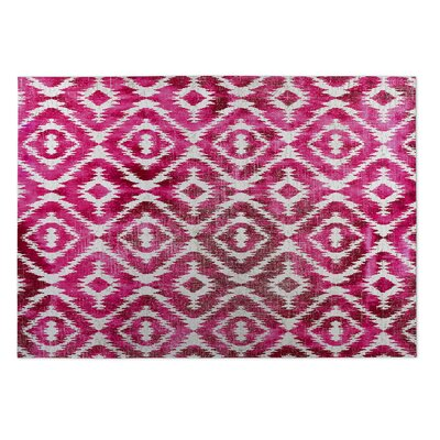 Christophe Pink/Gray Indoor/Outdoor Area Rug Rug Size: 2 x 3