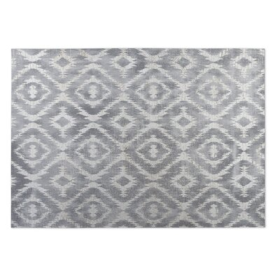 Laplant Gray Indoor/Outdoor Area Rug Rug Size: Rectangle 4 x 5
