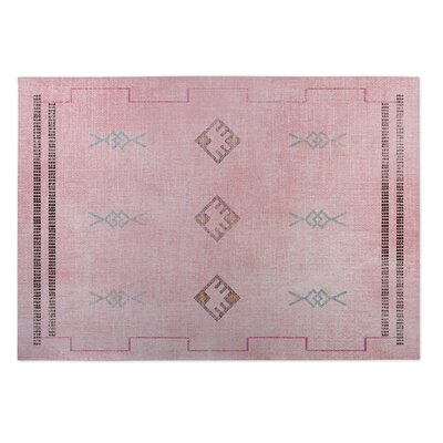 Cayuta Pink/Blue Indoor/Outdoor Area Rug Rug Size: Square 8