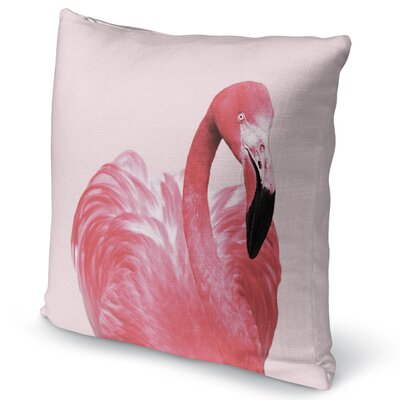 Pink Flamingo Canvas Accent Pillow Size: 16 H x 16 W x 5 D