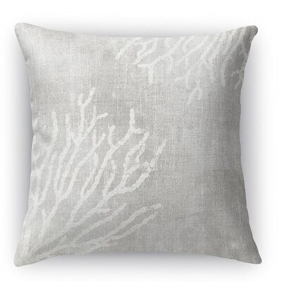 Sultana Throw Pillow Color: Gray, Size: 24