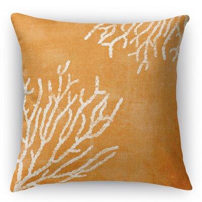 Sultana Throw Pillow Size: 16 H x 16 W x 5 D, Color: Orange