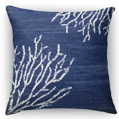 Sultana Throw Pillow Color: Blue, Size: 18