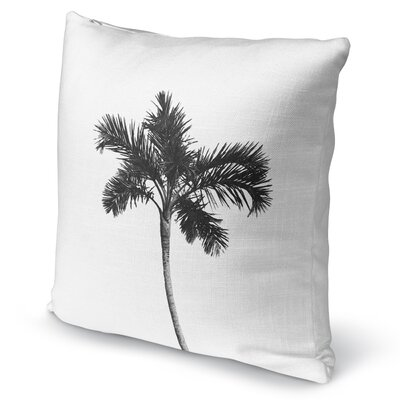 Single Palm Accent Pillow Size: 16