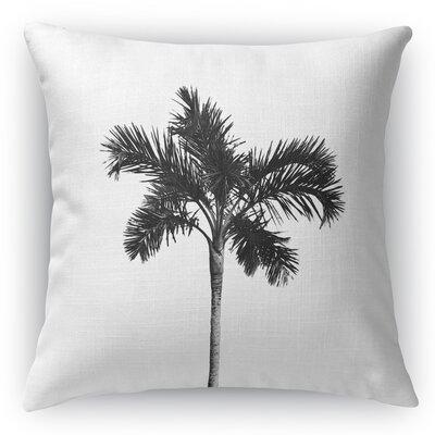 Single Palm Throw Pillow Size: 16