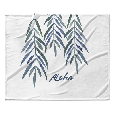 Aloha Fleece Blanket Size: 90 W x 90 L
