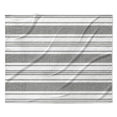 Sagamore Fleece Blanket Color: Gray/White, Size: 60 W x 80 L