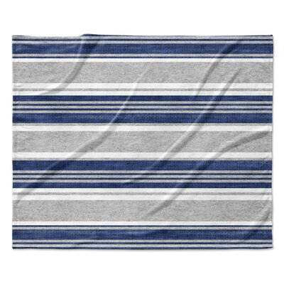 Sagamore Fleece Blanket Color: Blue, Size: 60 W x 80 L