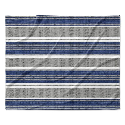 Sagamore Fleece Blanket Color: Blue/Gray, Size: 50 W x 60 L