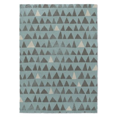 Peaks Blue Area Rug Rug Size: Rectangle 5 X 7