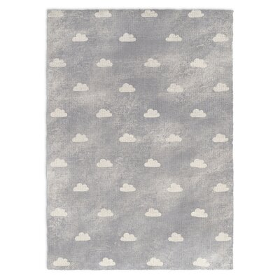 Owl Gray Area Rug Rug Size: Rectangle 5 X 7