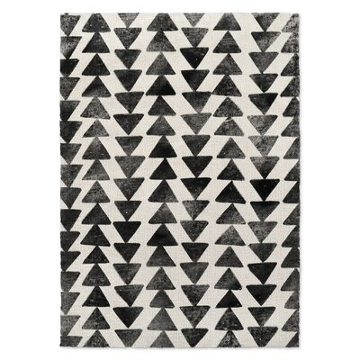 Foulks Black/Ivory Area Rug Rug Size: Rectangle 8 x 10
