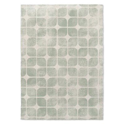 Badger Cream/Green Area Rug Rug Size: Rectangle 5 X 7