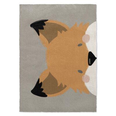 Fox Orange/Gray Area Rug Rug Size: 3 x 5