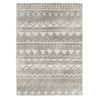 Fox Gray Area Rug Rug Size: 3 x 5
