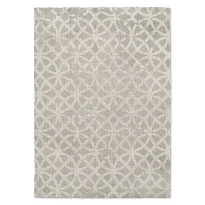 Vasques Geometric Gray Area Rug Rug Size: 2 x 3