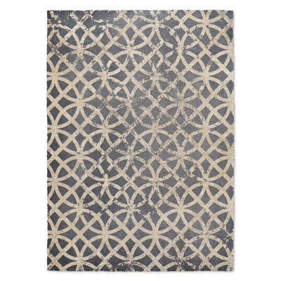 Freehold Beige/Blue Area Rug Rug Size: 2 x 3