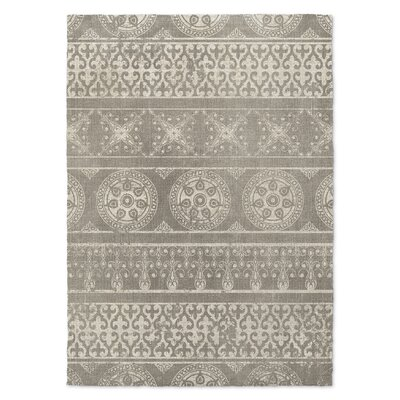 Duddleston Gray Area Rug Rug Size: 3 x 5