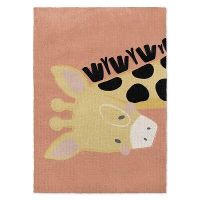Roberta Black/Yellow/Orange Area Rug Rug Size: 2 x 3