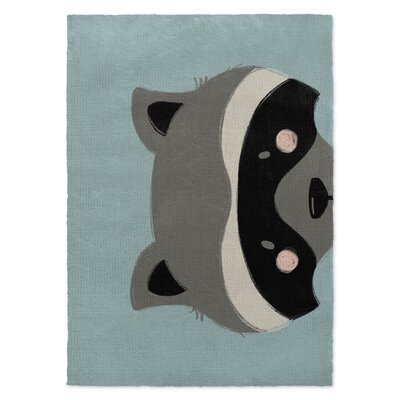 Raccoon Black/Gray/Green Area Rug Rug Size: 3 x 5