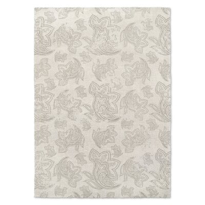 Paisley Destressed Gray Area Rug Rug Size: 5 x 7