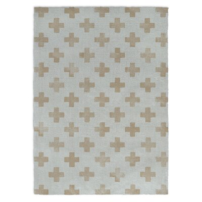 Monkey Blue/Brown Area Rug Rug Size: Rectangle 5 X 7