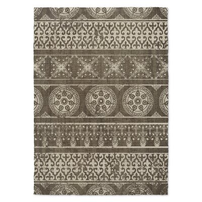 Duddleston Brown Area Rug Rug Size: 3 x 5