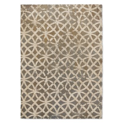 Freehold Beige/Rust Area Rug Rug Size: 3 x 5