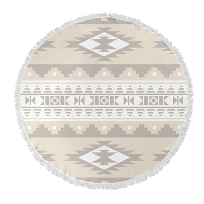 Cherokee Round Beach Towel Color: Tan, Brown
