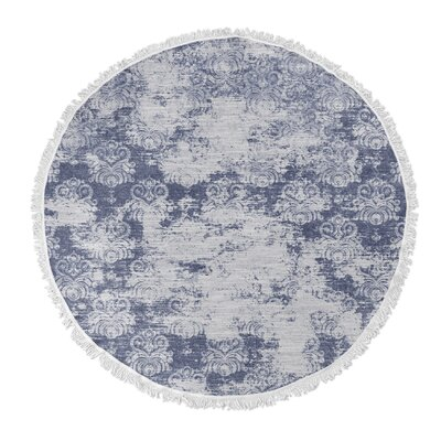 Victoire Round Beach Towel Color: Blue