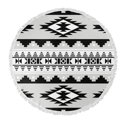 Cherokee Round Beach Towel Color: Grey