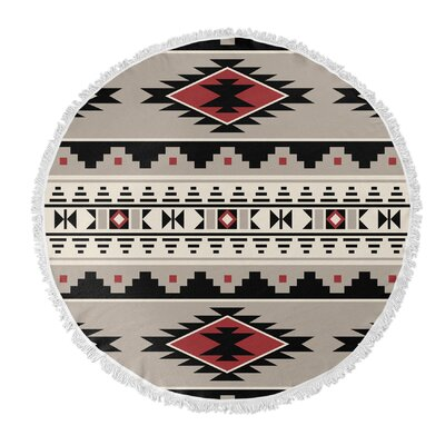 Cherokee Round Beach Towel Color: Red