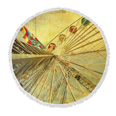 Eyes Skyward Round Beach Towel