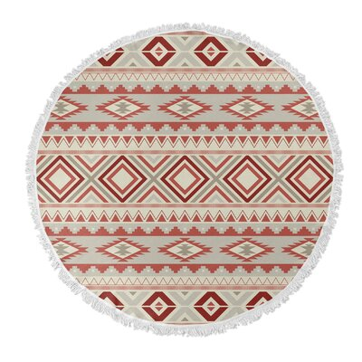 Cabarley Round Beach Towel Color: Tan
