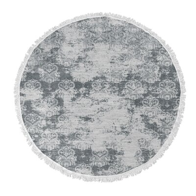Victoire Round Beach Towel Color: Dark Gray