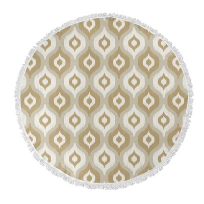 Underhill Round Beach Towel Color: Tan/Ivory/Gold