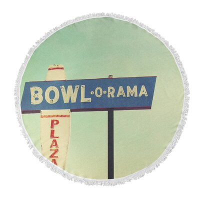 Bowl O Rama Round Beach Towel