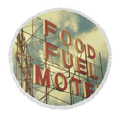 Tompson Food Fuel Motel Round Beach Towel