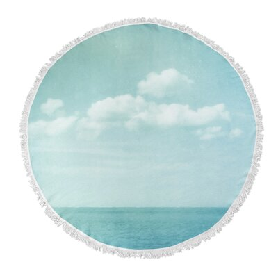 Sea of Blue Round Beach Towel