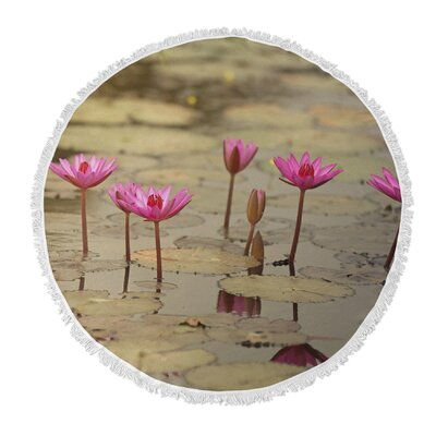 Tolley Lotus Round Beach Towel