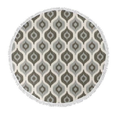 Underhill Round Beach Towel Color: Grey/ Ivory