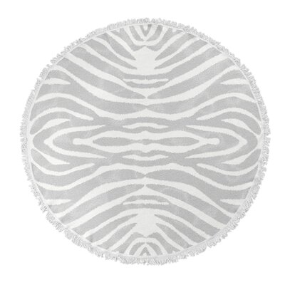 Nerbone Round Beach Towel Color: Gray/Ivory