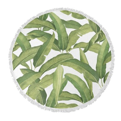 Pallavi Banana Leaves Round Beach Towel